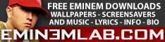 Eminem Lab - Free eminem downloads music lyrics info bio wallpapers screensavers and more !